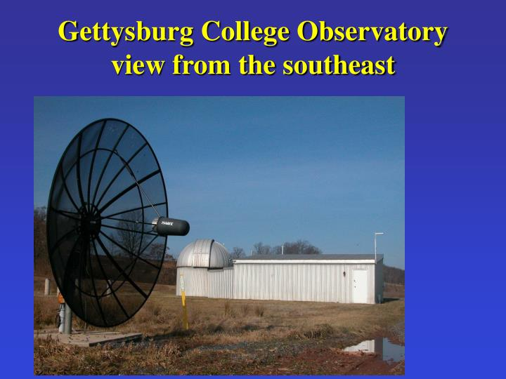 Gettysburg college observatory view from the southeast