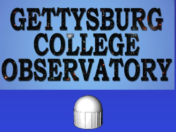 Instrumentation at the gettysburg observatory and what to do with it