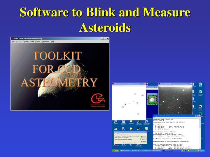 Software to Blink and Measure Asteroids
