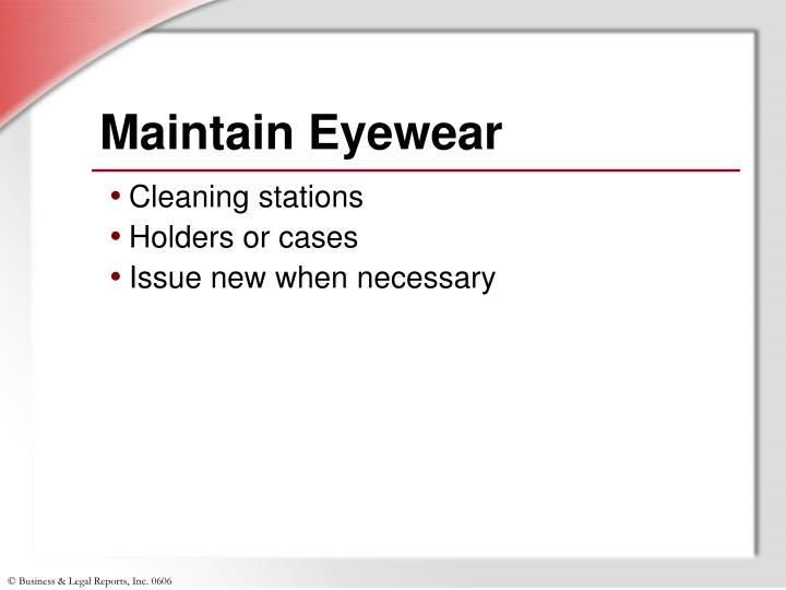 Maintain Eyewear