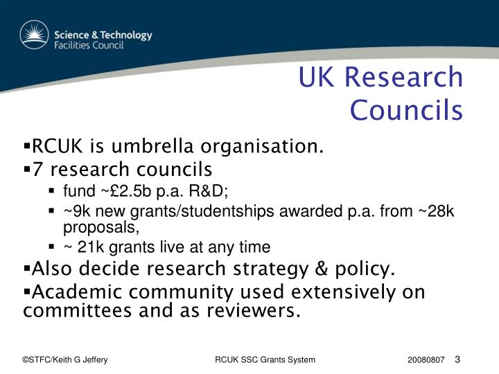 Uk research councils