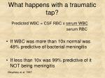 what happens with a traumatic tap