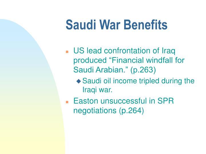Saudi War Benefits