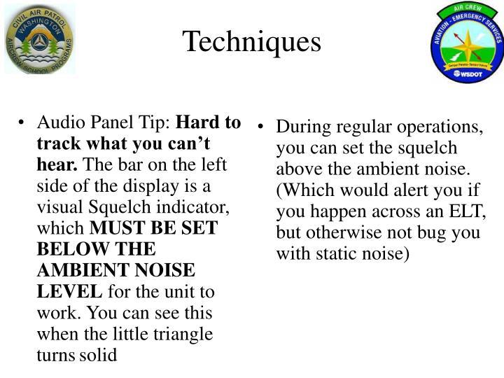 Audio Panel Tip: