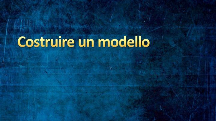 Costruire un modello