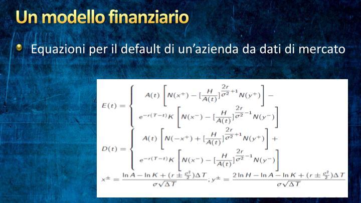 Un modello finanziario