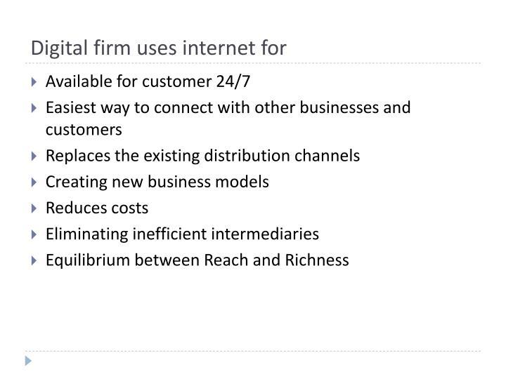 Digital firm uses internet for