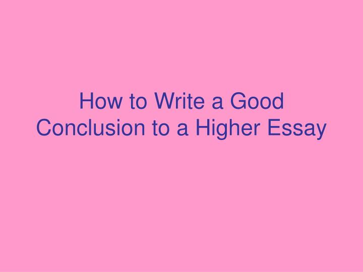 Good thesis writing dissertation conclusion