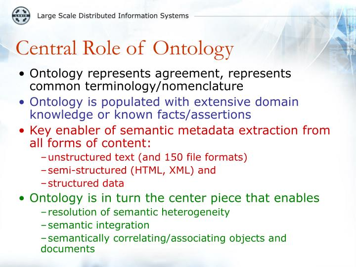 Central Role of Ontology