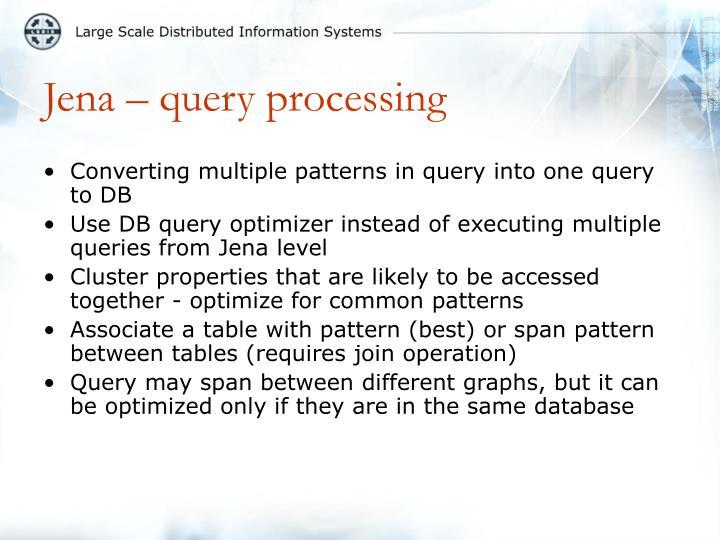 Jena – query processing