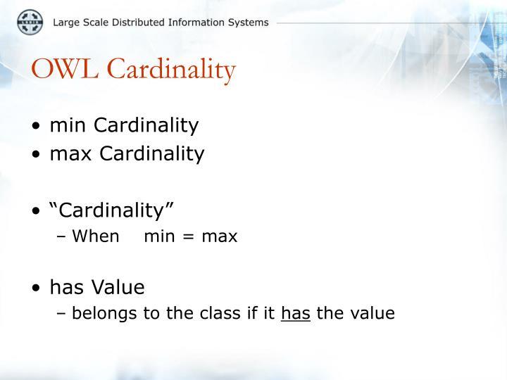 OWL Cardinality
