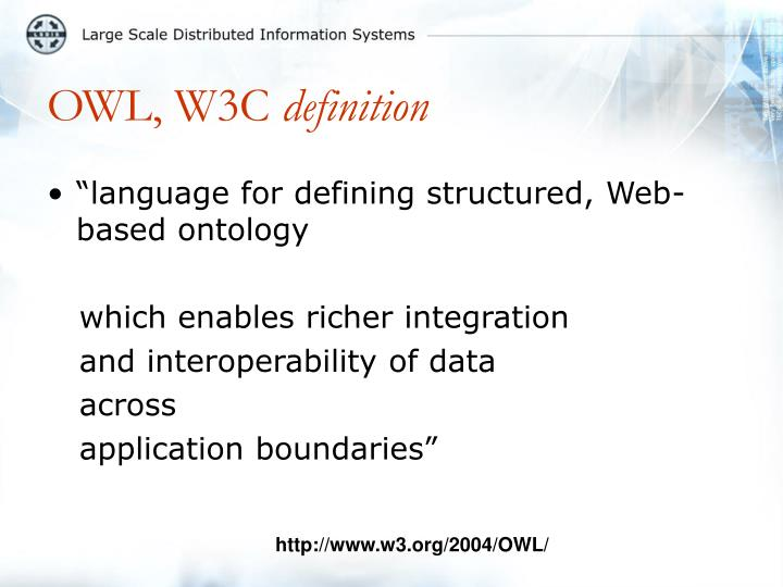 OWL, W3C
