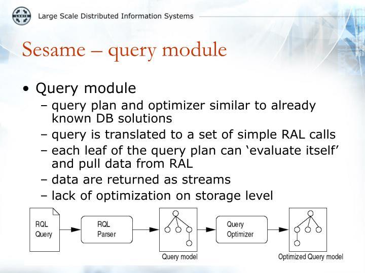 Sesame – query module