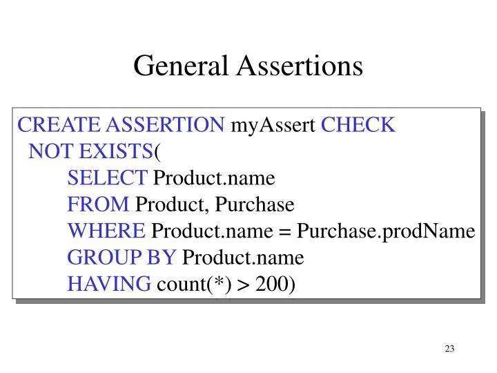 General Assertions