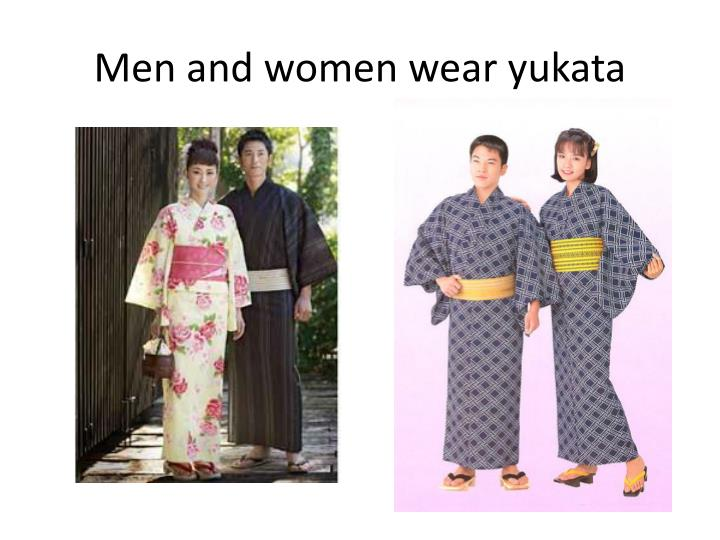 Men and women wear