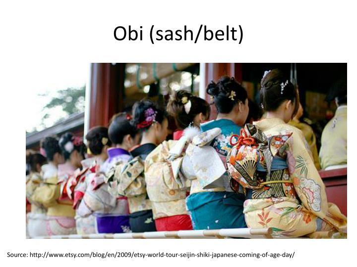 Obi (sash/belt)