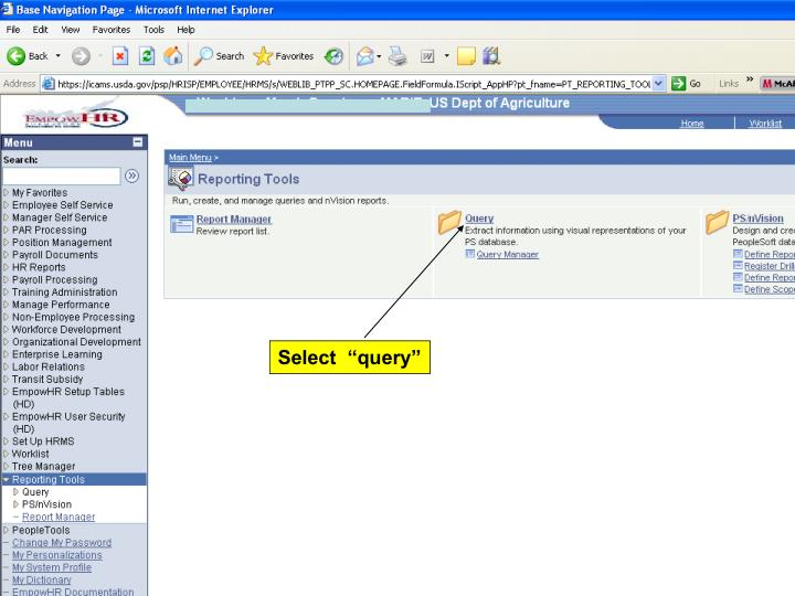 "Select  ""query"""