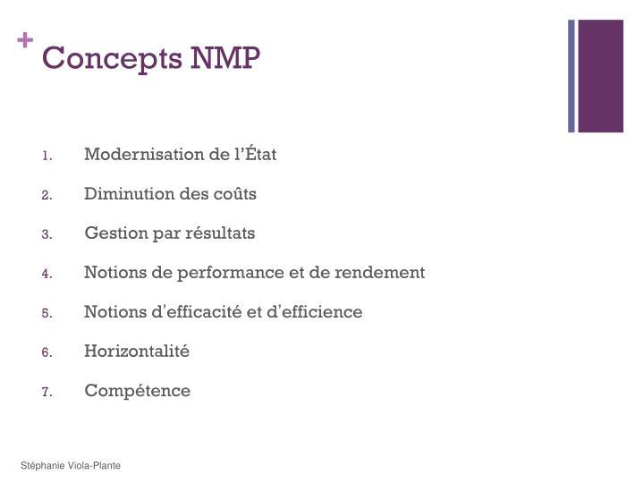 Concepts NMP