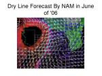 dry line forecast by nam in june of 06