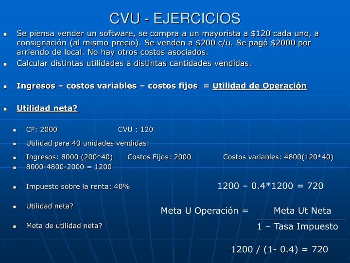 CVU - EJERCICIOS