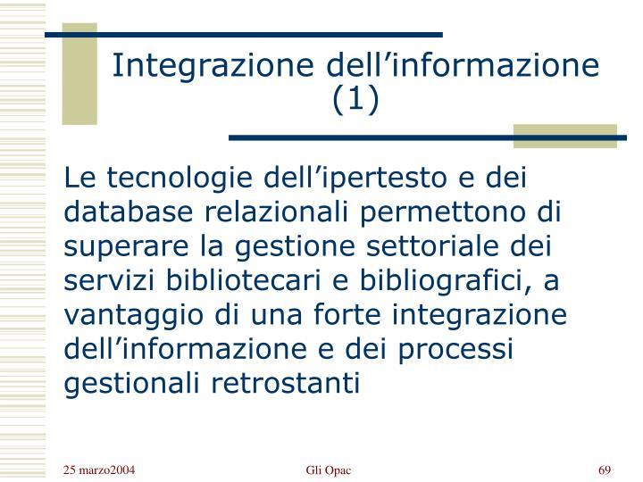 Integrazione dell'informazione (1)