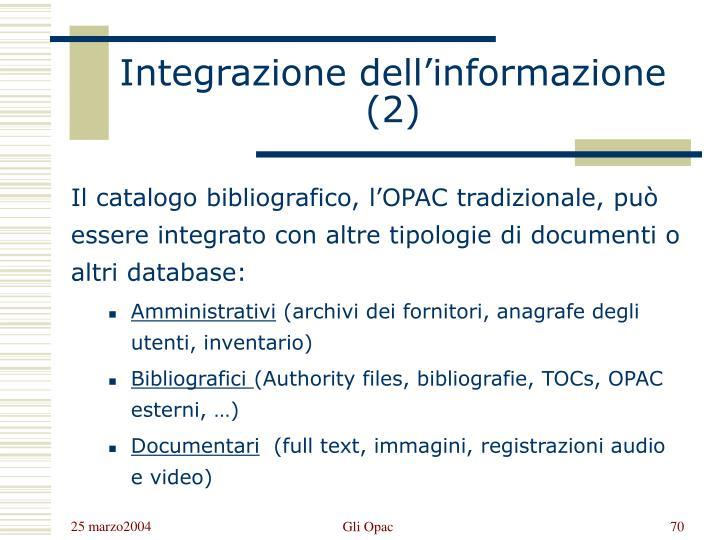 Integrazione dell'informazione