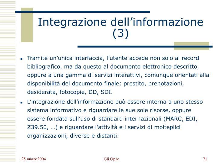 Integrazione dell'informazione (3)