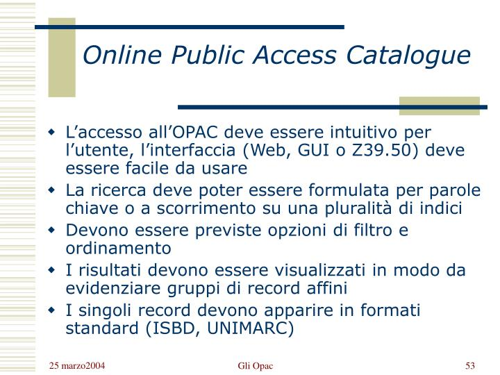 Online Public Access Catalogue