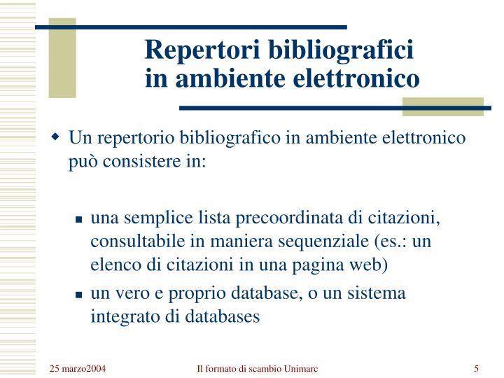 Repertori bibliografici