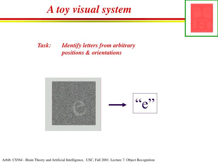A toy visual system