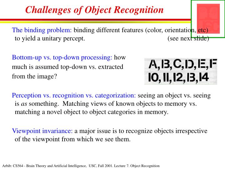 Challenges of Object Recognition