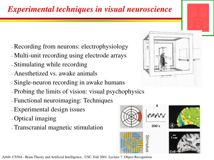 Experimental techniques in visual neuroscience