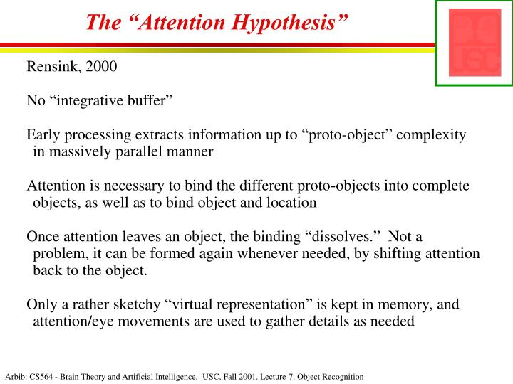 "The ""Attention Hypothesis"""