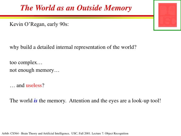 The World as an Outside Memory