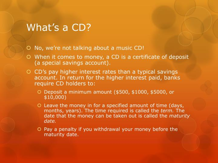 What's a CD?