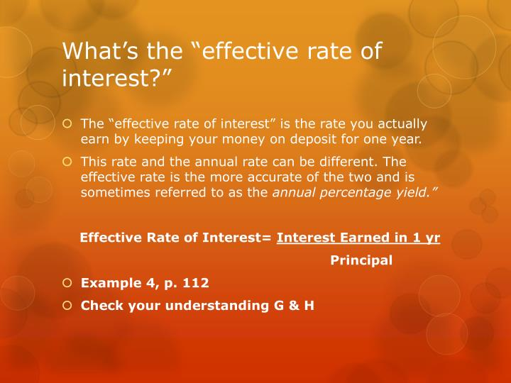 "What's the ""effective rate of interest?"""