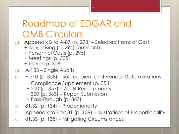 Roadmap of EDGAR and