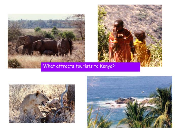 What attracts tourists to Kenya?