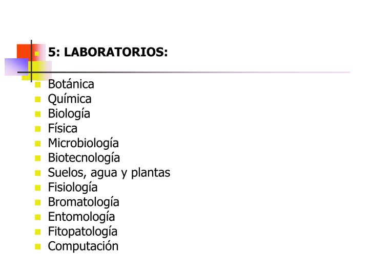 5: LABORATORIOS: