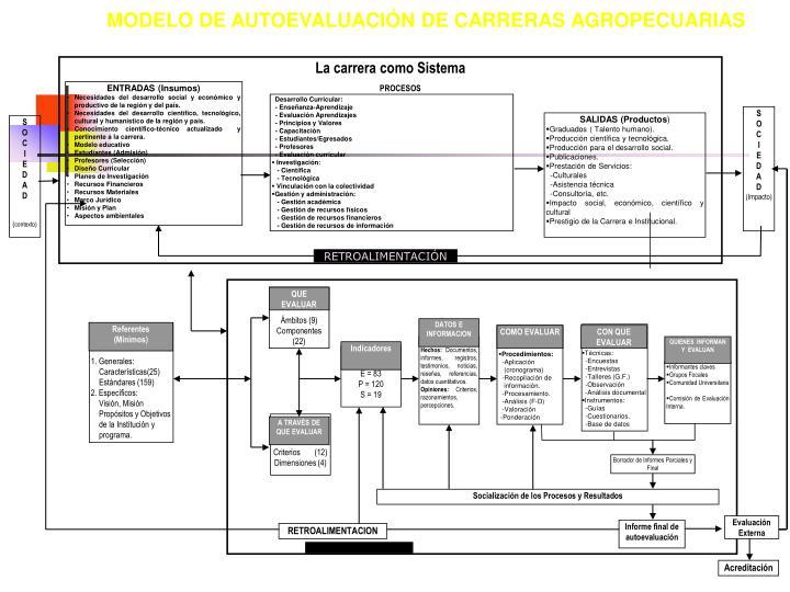 MODELO DE AUTOEVALUACIÓN DE CARRERAS AGROPECUARIAS