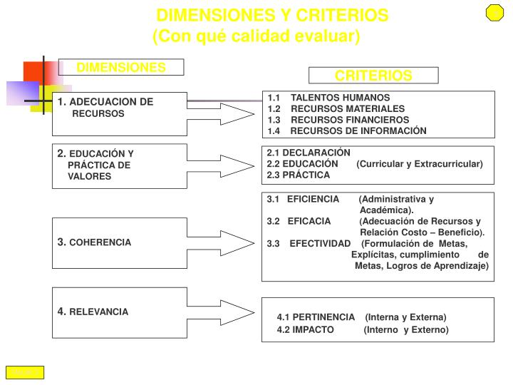 DIMENSIONES Y CRITERIOS