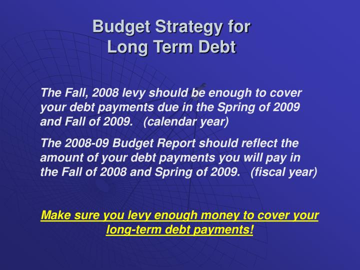 Budget Strategy for
