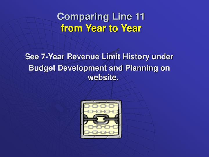 Comparing Line 11