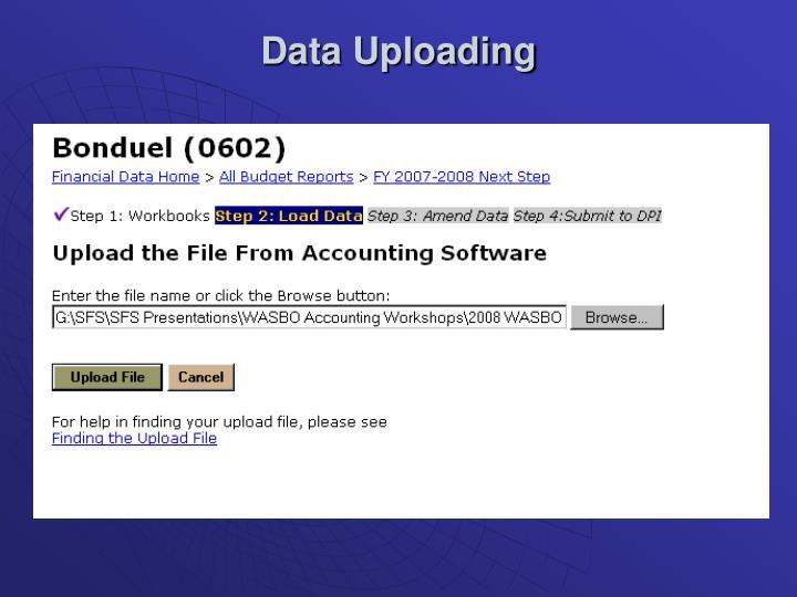 Data Uploading