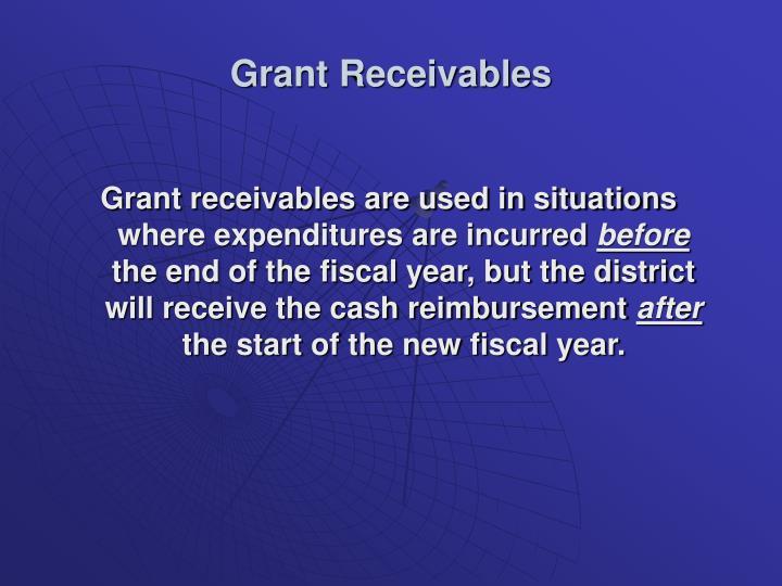 Grant Receivables