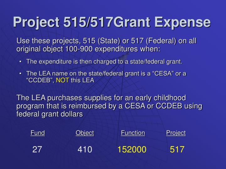 Project 515/517Grant Expense