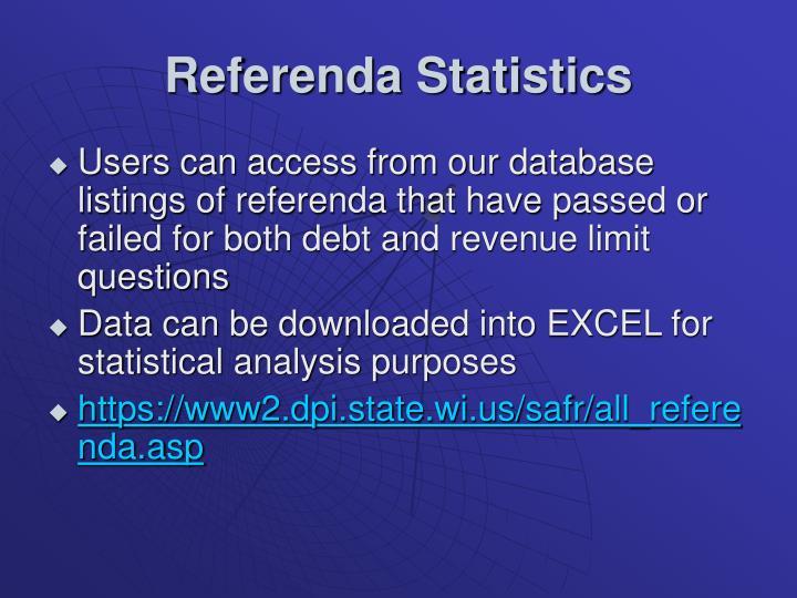 Referenda Statistics