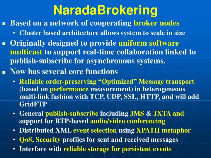 NaradaBrokering
