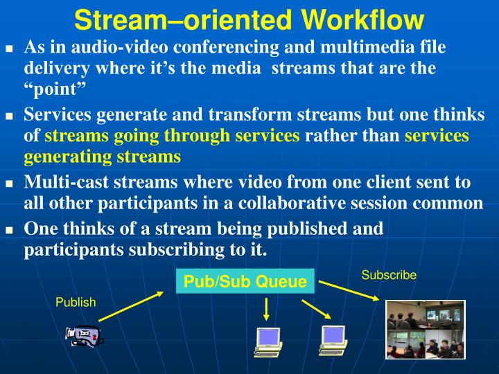 Stream–oriented Workflow