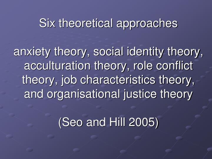 Six theoretical approaches
